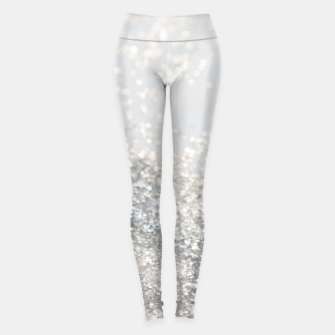 Thumbnail image of Silver Gray Glitter #3 #shiny #decor #art Leggings, Live Heroes