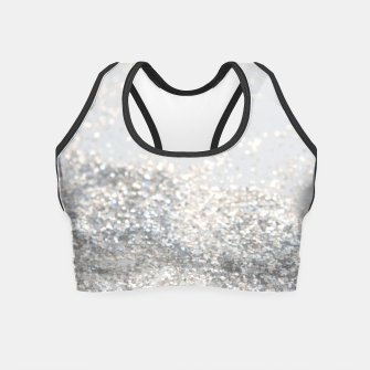 Silver Gray Glitter #3 #shiny #decor #art Crop Top thumbnail image