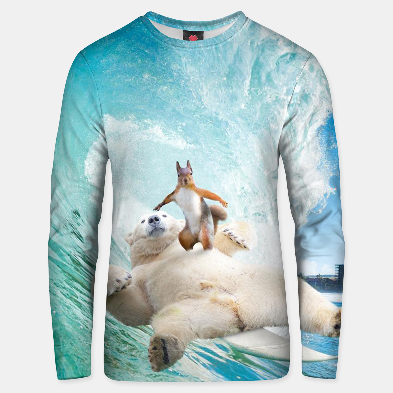 Image of Surfing Squirrel Unisex sweater - Live Heroes