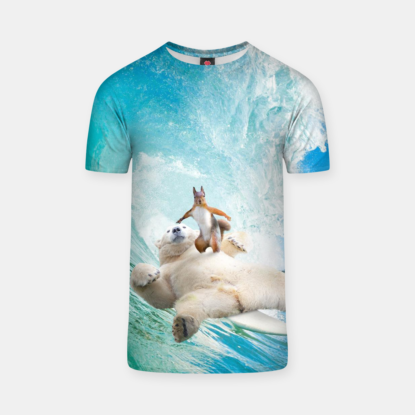 Image of Surfing Squirrel T-shirt - Live Heroes