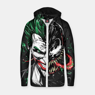 Miniatur The Venom Joker Zip up hoodie, Live Heroes