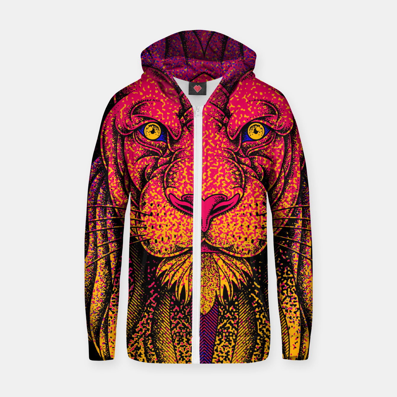 Image of King of Wild Zip up hoodie - Live Heroes
