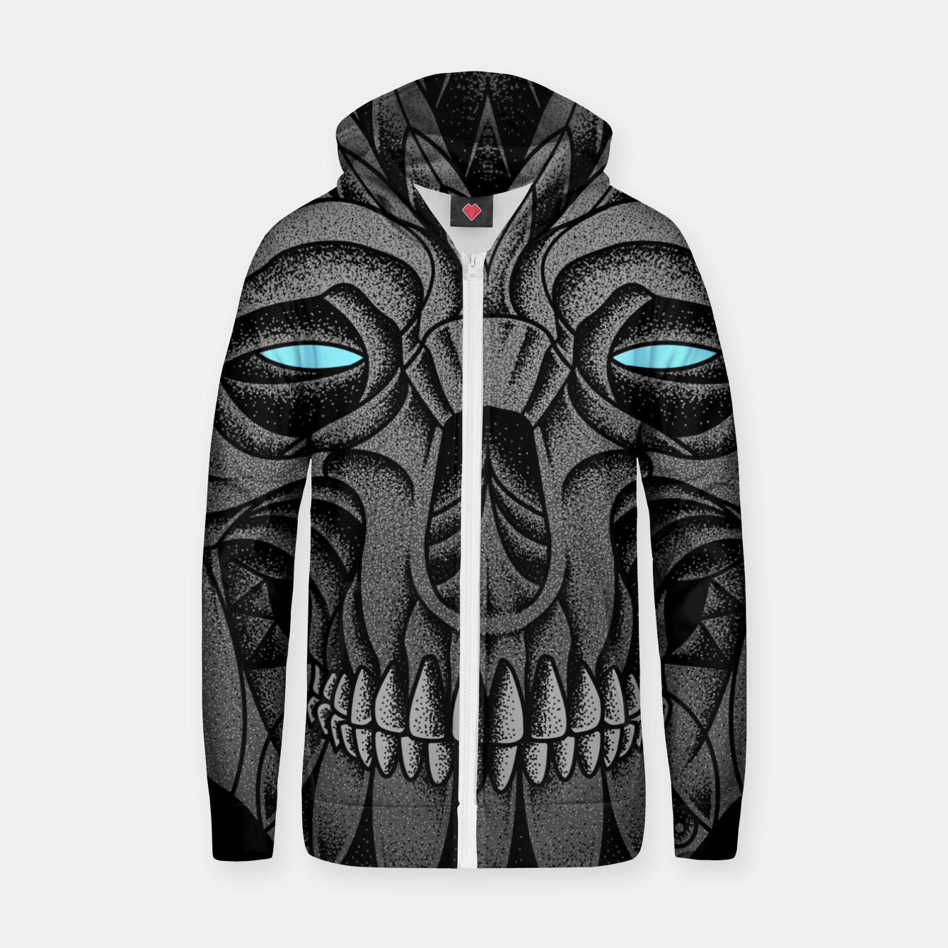 Image of Silent Zip up hoodie - Live Heroes