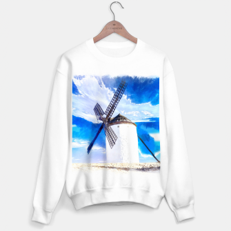 wind mill landscape digital aquarell aqstd Sweater regular thumbnail image