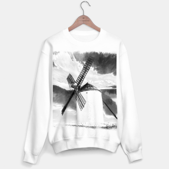 wind mill landscape digital aquarell aqbw Sweater regular thumbnail image