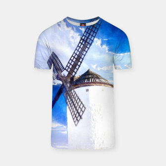 wind mill landscape digital aquarell aqstd T-shirt thumbnail image
