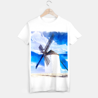 Thumbnail image of wind mill landscape digital aquarell aqstd T-shirt regular, Live Heroes
