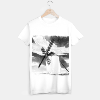wind mill landscape digital aquarell aqbw T-shirt regular thumbnail image