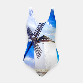 wind mill landscape digital aquarell aqstd Swimsuit thumbnail image