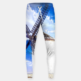 wind mill landscape digital aquarell aqstd Sweatpants thumbnail image