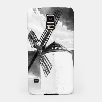 Thumbnail image of wind mill landscape digital aquarell aqbw Samsung Case, Live Heroes