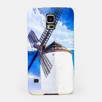 wind mill landscape digital aquarell aqstd Samsung Case thumbnail image