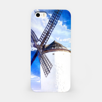wind mill landscape digital aquarell aqstd iPhone Case thumbnail image