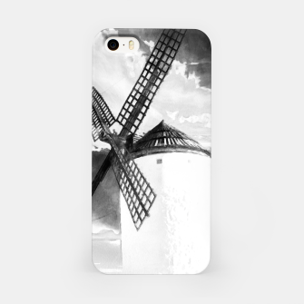Thumbnail image of wind mill landscape digital aquarell aqbw iPhone Case, Live Heroes
