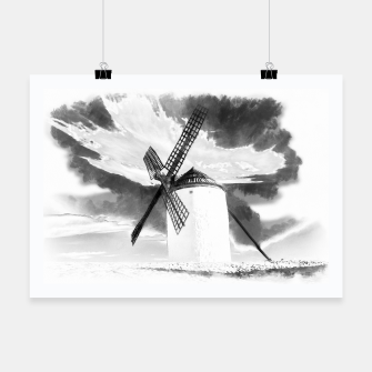 wind mill landscape digital aquarell aqbw Poster thumbnail image
