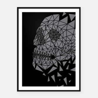 Miniatur Skull Triangle Framed poster, Live Heroes