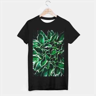 Thumbnail image of Hosta undulata albomarginata vibrant green plant leaves T-shirt regular, Live Heroes