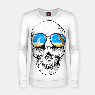Thumbnail image of Skull Holiday Women sweater, Live Heroes