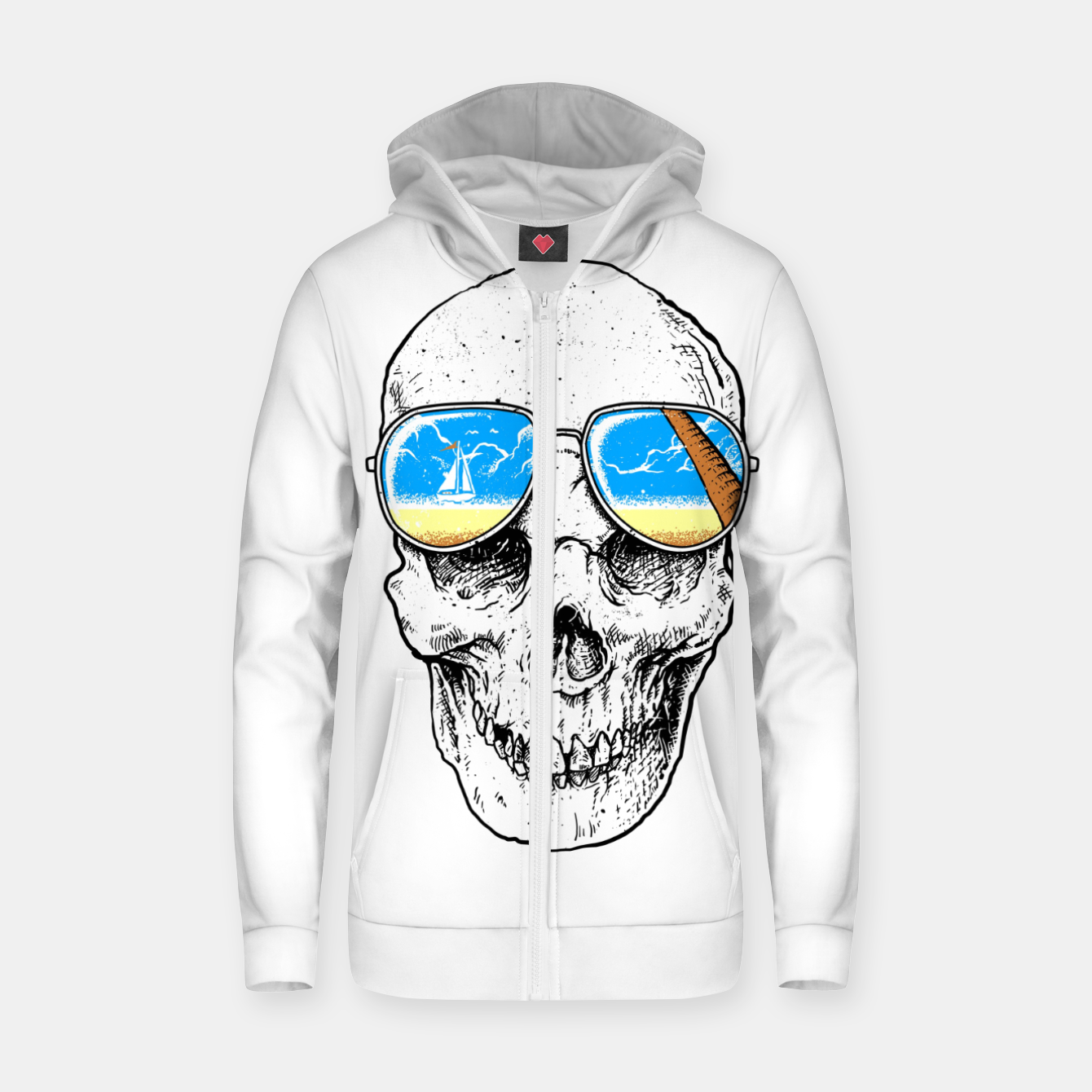 Image of Skull Holiday Zip up hoodie - Live Heroes