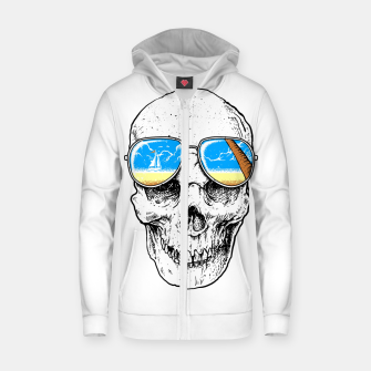 Skull Holiday Zip up hoodie thumbnail image