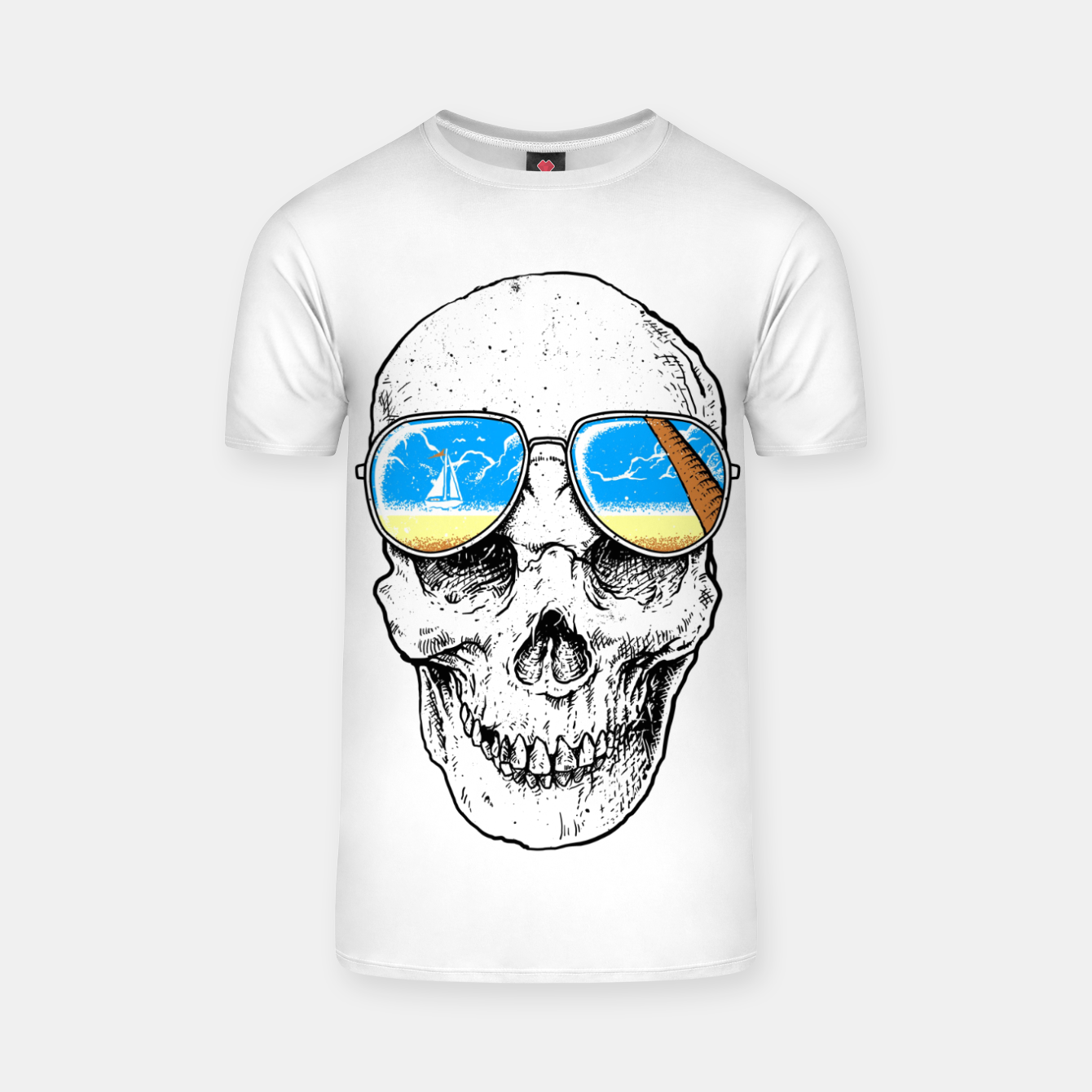 Image of Skull Holiday T-shirt - Live Heroes