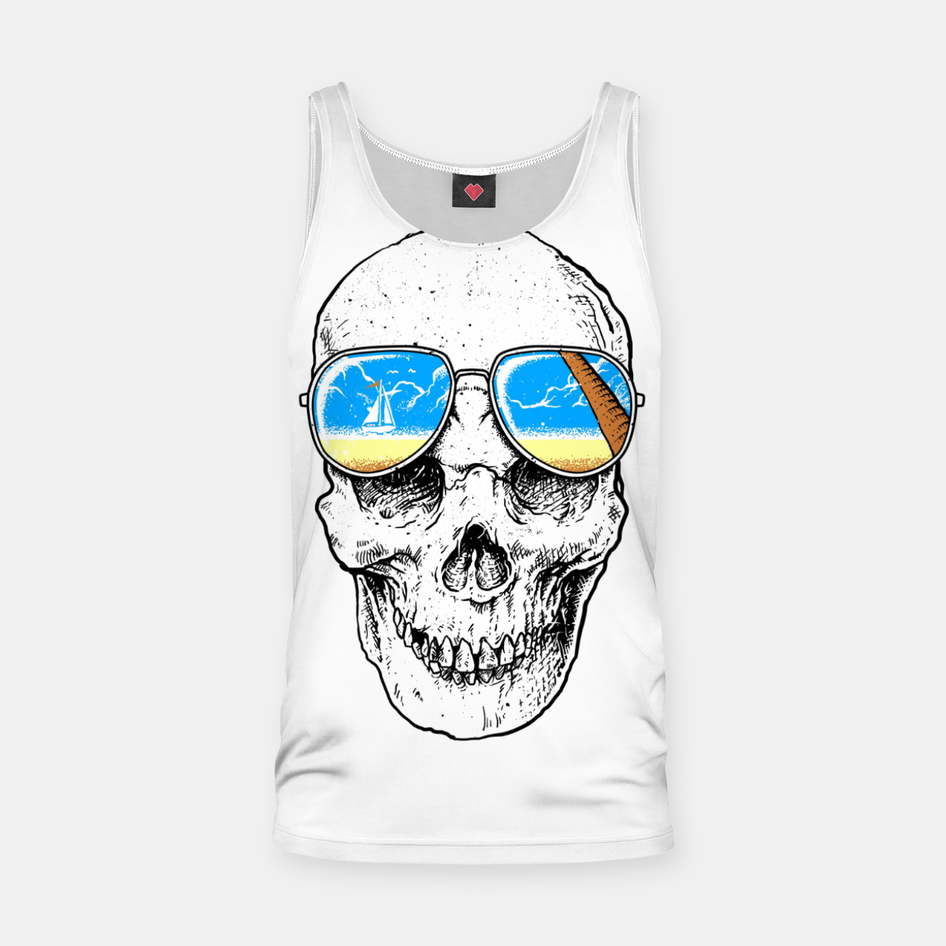 Image of Skull Holiday Tank Top - Live Heroes