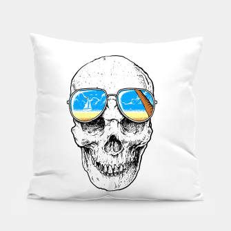 Thumbnail image of Skull Holiday Pillow, Live Heroes