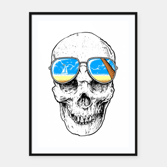 Thumbnail image of Skull Holiday Framed poster, Live Heroes