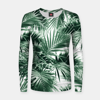 Tropical Palm Leaf Jungle #1 #tropical #decor #art  Frauen sweatshirt thumbnail image