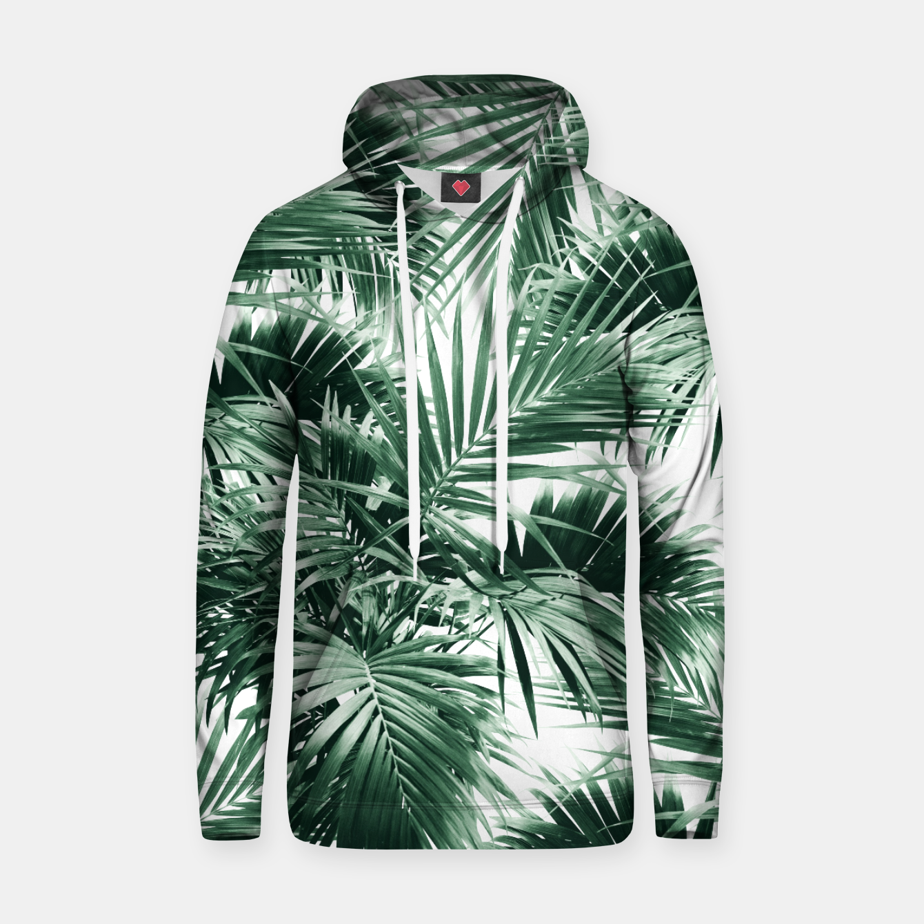 Image of Tropical Palm Leaf Jungle #1 #tropical #decor #art  Kapuzenpullover - Live Heroes