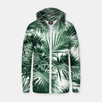 Thumbnail image of Tropical Palm Leaf Jungle #1 #tropical #decor #art  Reißverschluss kapuzenpullover, Live Heroes
