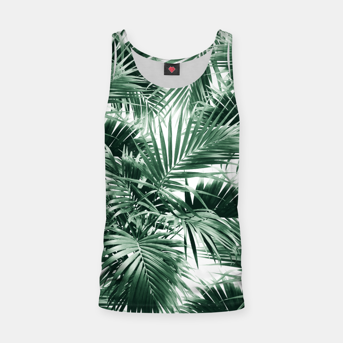 Image of Tropical Palm Leaf Jungle #1 #tropical #decor #art  Muskelshirt  - Live Heroes