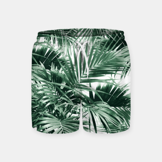 Tropical Palm Leaf Jungle #1 #tropical #decor #art  Badeshorts thumbnail image