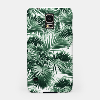Miniatur Tropical Palm Leaf Jungle #1 #tropical #decor #art  Handyhülle für Samsung, Live Heroes