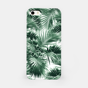 Miniatur Tropical Palm Leaf Jungle #1 #tropical #decor #art  iPhone-Hülle, Live Heroes