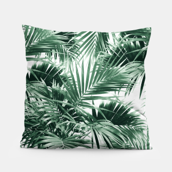 Tropical Palm Leaf Jungle #1 #tropical #decor #art  Kissen thumbnail image