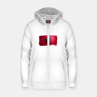 Thumbnail image of Albania Zip up hoodie, Live Heroes