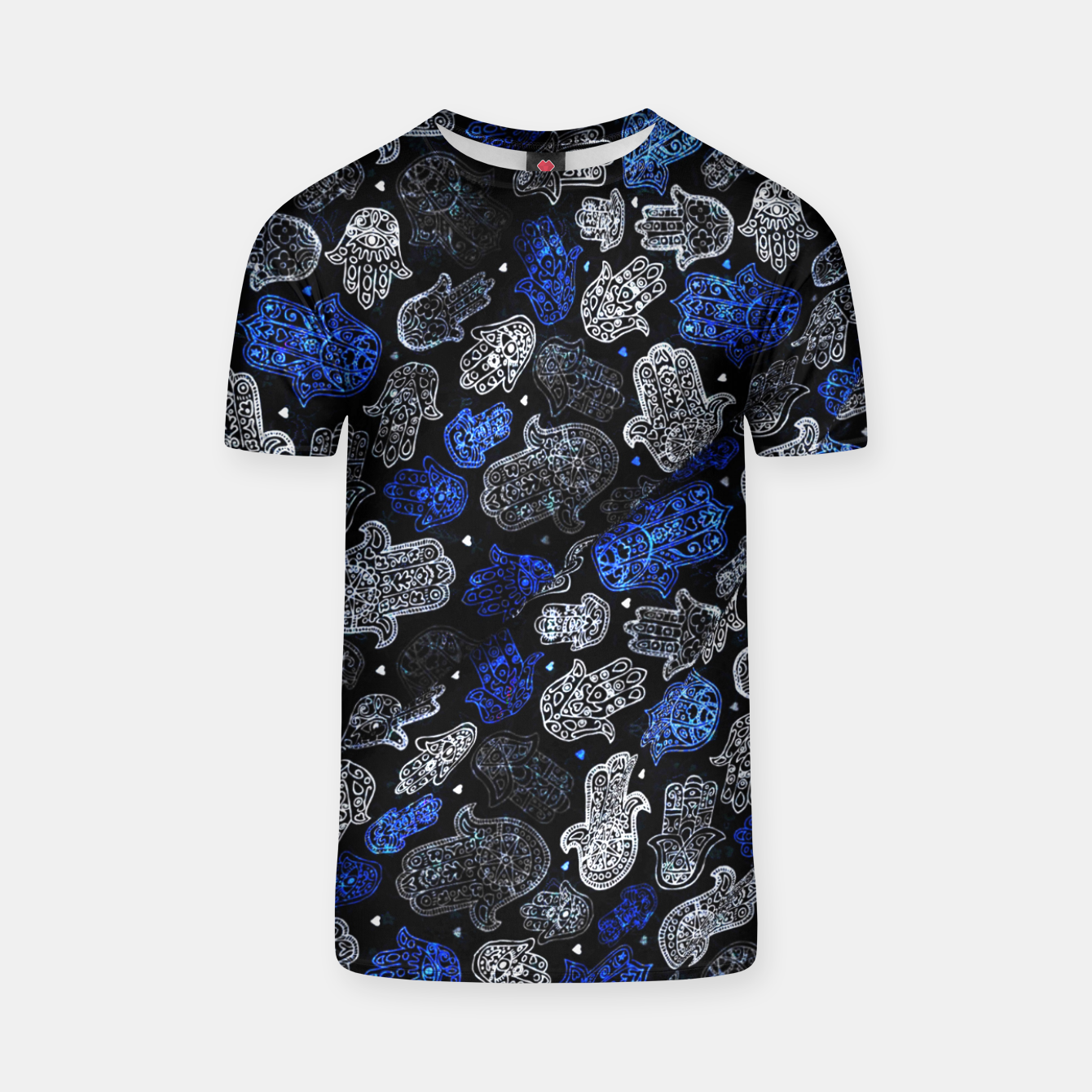 Image of Indigo Blue Vintage Moroccan Texture. T-shirt - Live Heroes