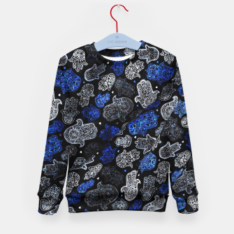 Indigo Blue Vintage Moroccan Texture. Kid's sweater thumbnail image