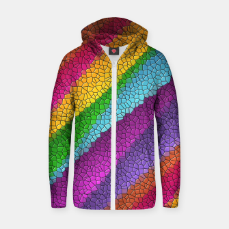 Thumbnail image of Colorful Texture  Zip up hoodie, Live Heroes