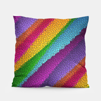 Thumbnail image of Colorful Texture  Pillow, Live Heroes