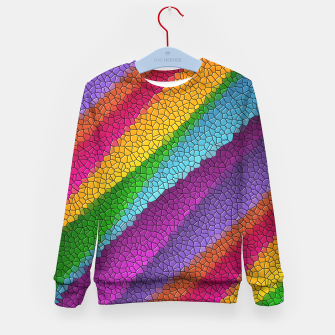 Thumbnail image of Colorful Texture  Kid's sweater, Live Heroes