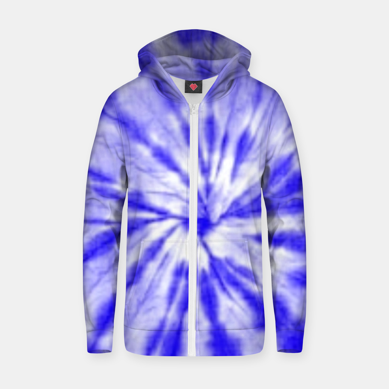 Image of Tie Dye Zip up hoodie - Live Heroes
