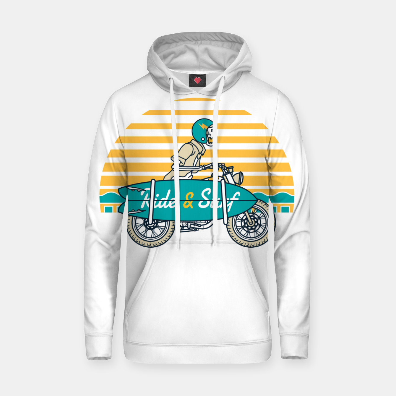 Image of Ride and Surf Hoodie - Live Heroes