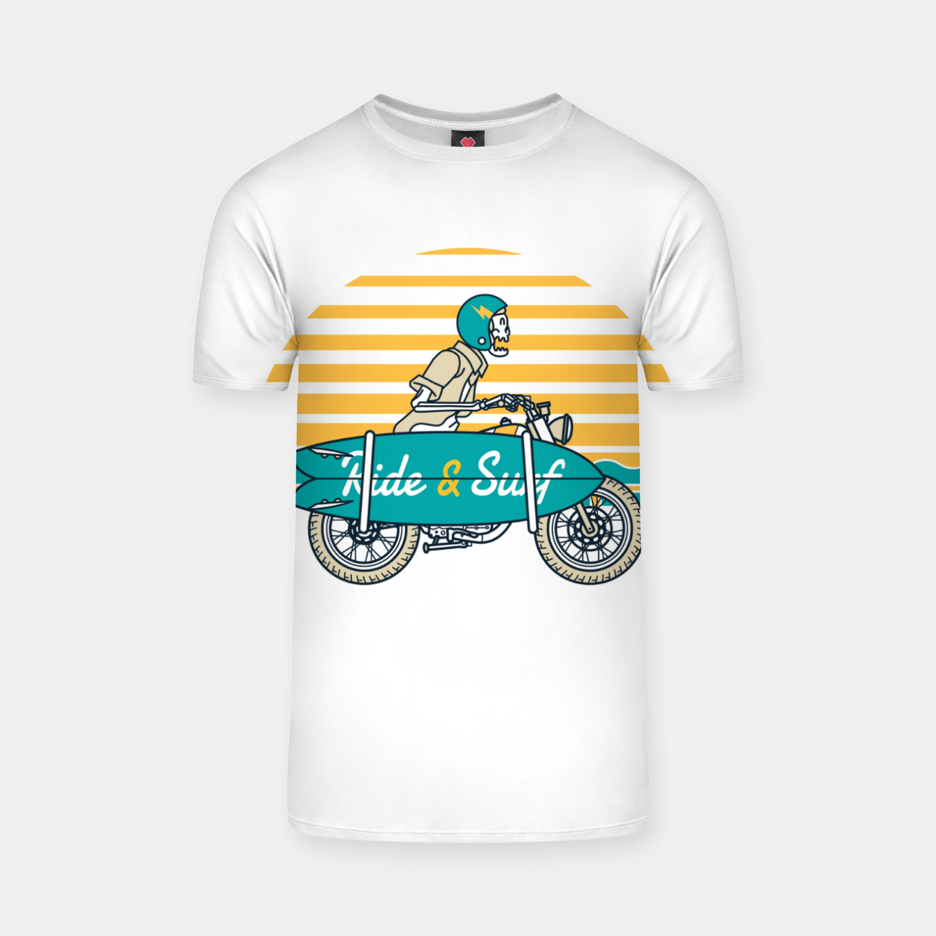 Image of Ride and Surf T-shirt - Live Heroes