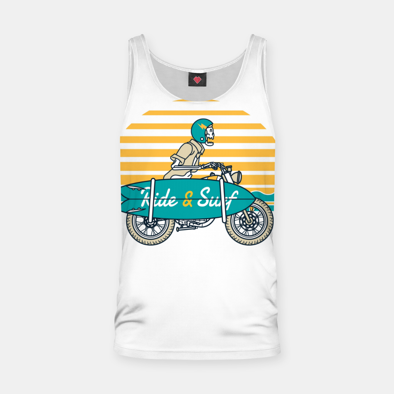 Image of Ride and Surf Tank Top - Live Heroes