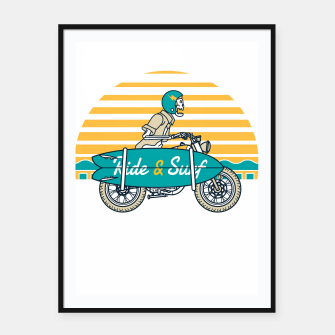 Ride and Surf Framed poster thumbnail image