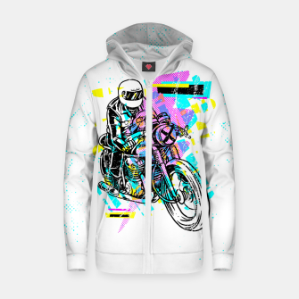 Pop Biker Zip up hoodie thumbnail image