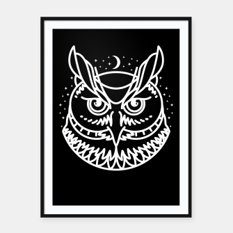 Thumbnail image of Owl Framed poster, Live Heroes