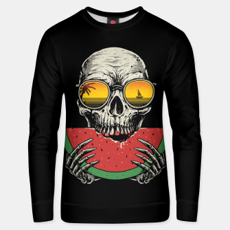 Watermelon Skull Unisex sweater thumbnail image